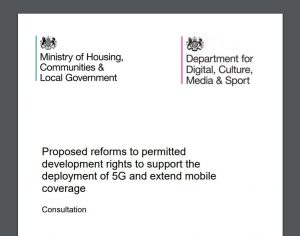 Proposed reforms to permitted development rights to support the deployment of 5G and extend mobile coverage